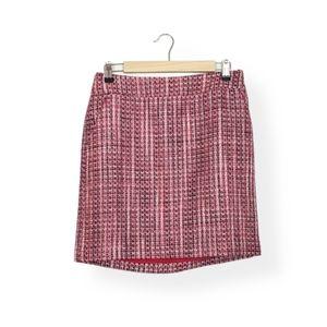 White House Black Market Pink Tweed Career Skirt